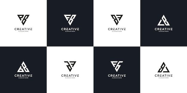 Vorlage für das anfängliche fb-logo-design
