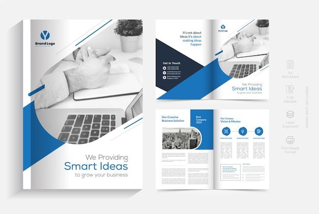 Vorlage für das design der unternehmensbroschüre