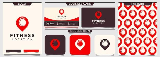 Vorlage für das design des fitnesspunkt-logos