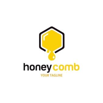 Vorlage für das design des honigwaben-logos