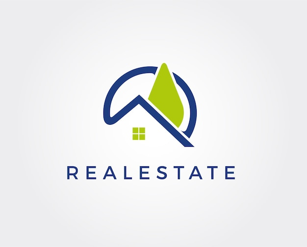 Vorlage für das design des immobilienlogos