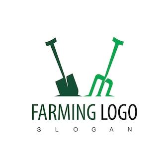 Vorlage für das design des landwirtschaftslogos