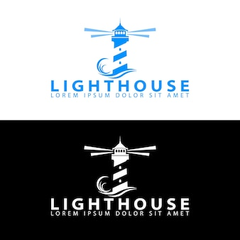 Vorlage für das design des leuchtturm-logos
