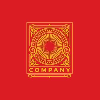 Vorlage für das design des luxusornament-logos