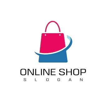 Vorlage für das design des online-shop-logos