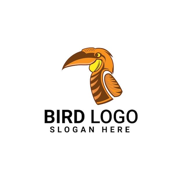 Vorlage für das design des vogellogos