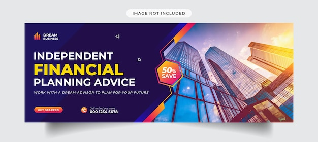Vorlage für das facebook-cover einer agentur für digitales marketing