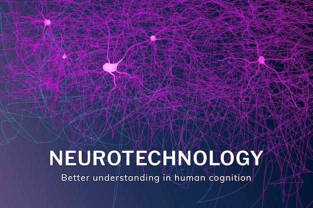 Vorlage für das intelligente gesundheitswesen der neurotechnologie