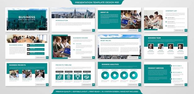 Vorlage für das layout der präsentationsseite
