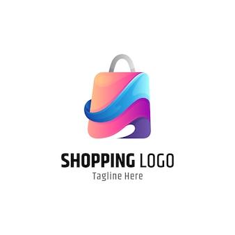 Vorlage für das logo der einkaufstasche