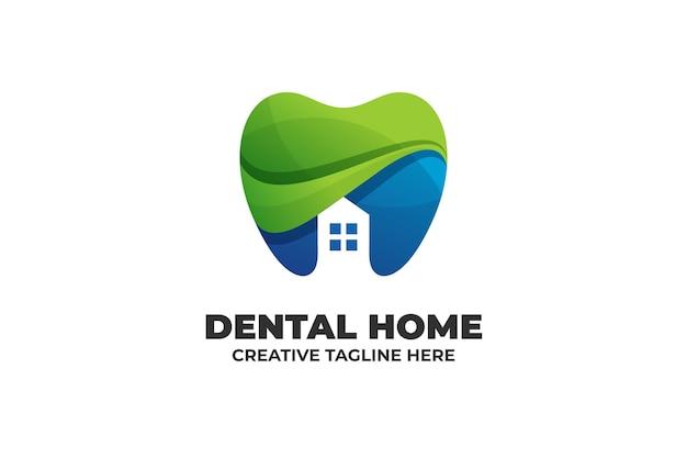 Vorlage für das logo der zahnklinik mit farbverlauf