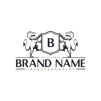 Vorlage für das logo des königlichen löwen