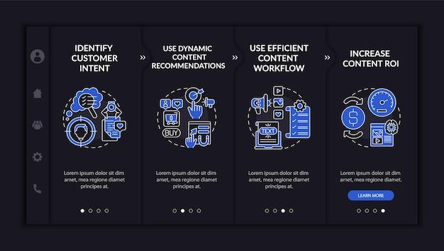 Vorlage für das onboarding von smart content-tipps