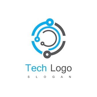 Vorlage für das technologie-schaltkreis-logo