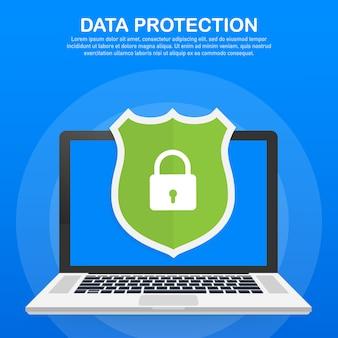 Vorlage für datenschutz, privatsphäre und internetsicherheit
