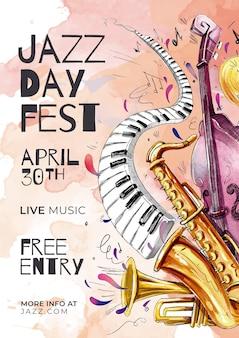 Vorlage für den internationalen jazz-tag