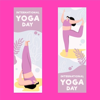 Vorlage für den internationalen tag der yoga-banner