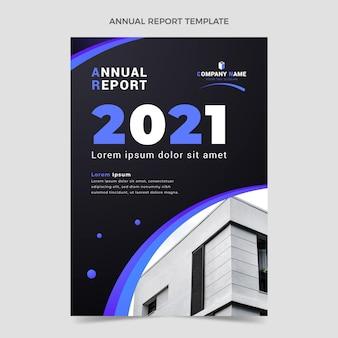 Vorlage für den jahresbericht für immobilien mit farbverlauf
