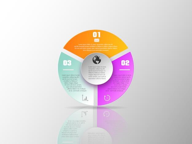 Vorlage für diagramm, grafik, präsentation und grafik.