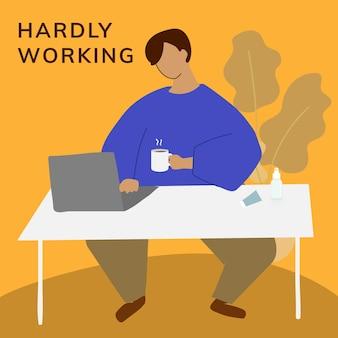 Vorlage für die arbeit von zu hause aus in neuer normalität