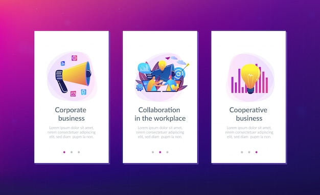 Vorlage für die benutzeroberfläche der collaboration-app