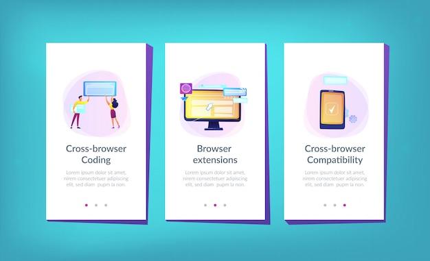 Vorlage für die browserübergreifende kompatibilitäts-app-benutzeroberfläche.