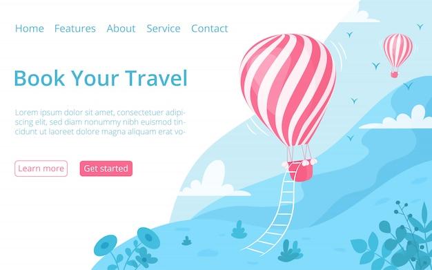Vorlage für die buchungsseite der heißluftballon-website