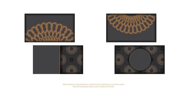 Vorlage für die druckgestaltung von visitenkarten in grauer farbe mit griechischem ornament. vektor-visitenkarte bereit mit platz für ihren text und vintage-muster.