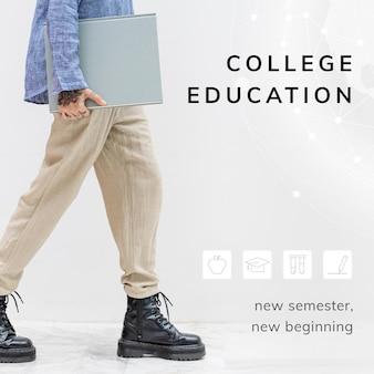 Vorlage für die hochschulausbildung für das neue semester