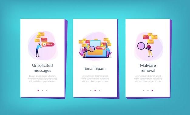 Vorlage für die spam-app-oberfläche.
