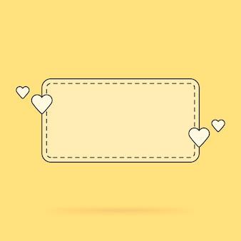 Vorlage für die textblasenzitate, liebesbotschaften, glückwünsche. vektor-illustration