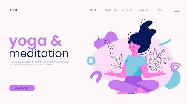 Vorlage für die yoga-landingpage