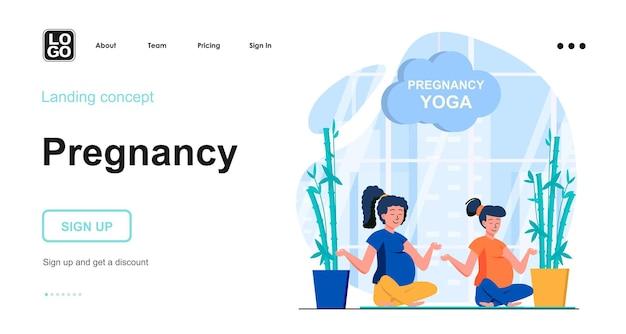 Vorlage für die zielseite der schwangerschaft
