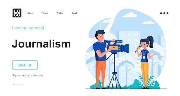 Vorlage für die zielseite des journalismus