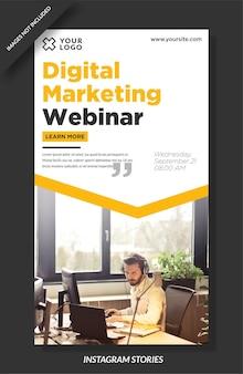 Vorlage für digitale marketing-instagram-geschichten