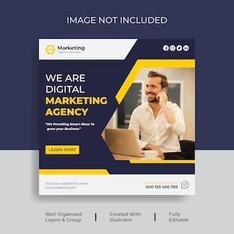 Vorlage für digitales marketing für instagram oder social media-feeds