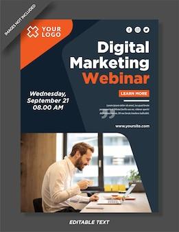 Vorlage für digitales marketingplakat