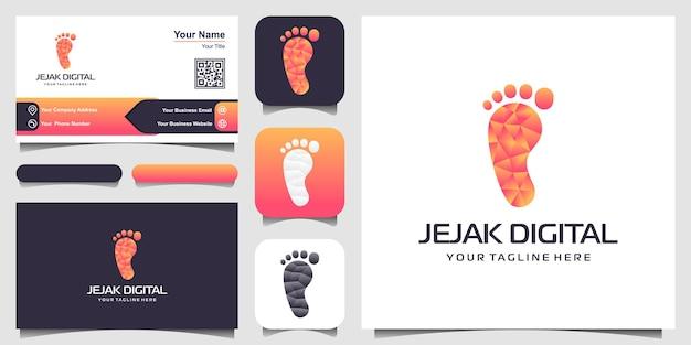 Vorlage für digitales trail-logo-design