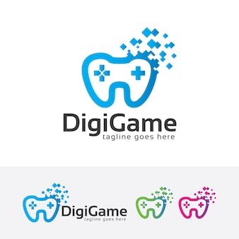 Vorlage für ein digitales spiellogo