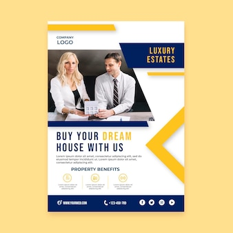 Vorlage für ein immobilienkaufplakat