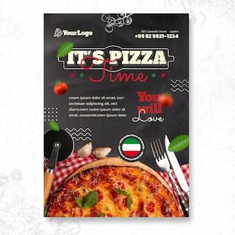 Vorlage für ein italienisches essensplakat