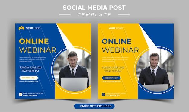 Vorlage für ein live-webinar für digitales marketing in sozialen medien