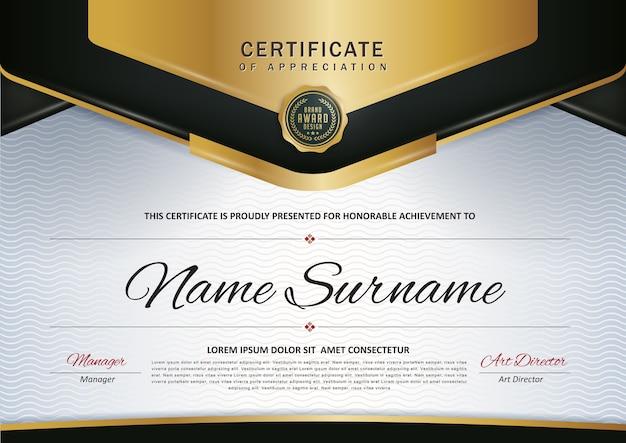 Vorlage für ein premium-zertifikat