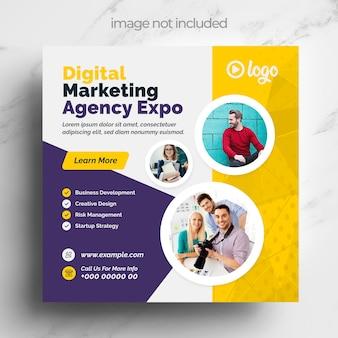 Vorlage für eine agentur für digitales marketing für soziale medien