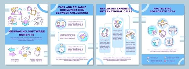 Vorlage für eine broschüre zu den vorteilen einer messaging-software
