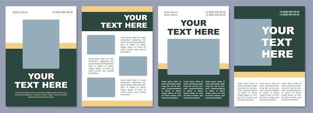 Vorlage für eine broschüre zur unternehmensförderung. flyer, broschüre, broschürendruck, cover-design mit kopierraum. dein text hier. vektorlayouts für zeitschriften, geschäftsberichte, werbeplakate