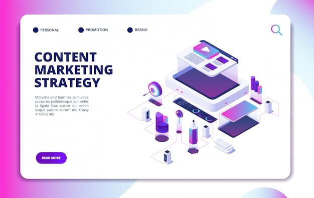 Vorlage für eine content-marketing-website