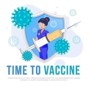 Vorlage für eine coronavirus-impfkampagne