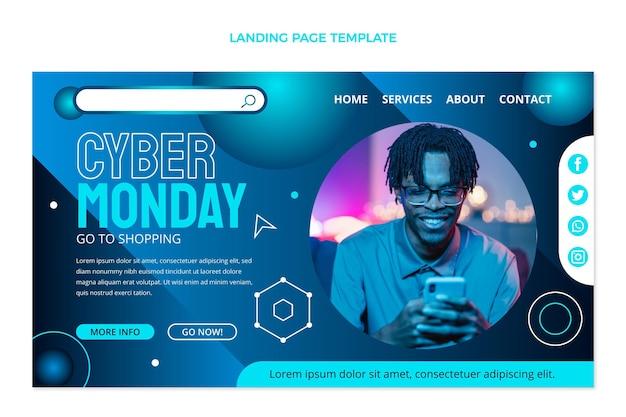Vorlage für eine cyber monday-landingpage