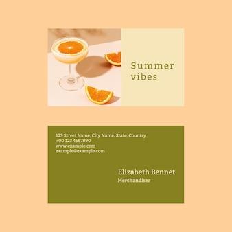 Vorlage für eine sommer-visitenkarte